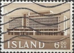 ICELAND 1962 Icelandic Buildings - 6k Agricultural Society Headquarters FU - 1944-... Republique