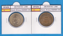 ESPAGNE  / JUAN CARLOS I 100 PESETAS 1.998 SC/UNC     T-DL-2189 - [ 5] 1949-… : Royaume