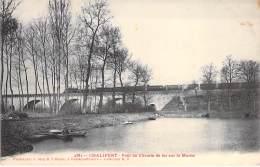 77 - CHALIFERT : Pont Du Chemin De Fer Sur La  Marne ( Avec Passage D'un Train ) - CPA - Seine Et Marne - Autres Communes