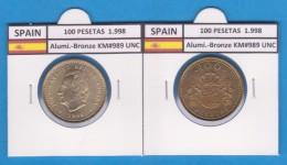 ESPAGNE  / JUAN CARLOS I 100 PESETAS 1.998 SC/UNC     T-DL-2189 - [ 5] 1949-… : Kingdom