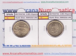 "ESPAGNE /JUAN CARLOS I    100  PESETAS  Aluminio-Bronce 2.001  KM#1016 ""HISPANIA""  SC/UNC  T-DL-9494 - [ 5] 1949-… : Kingdom"