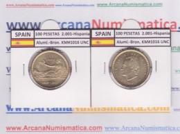 "SPAIN /JUAN CARLOS I    100  PESETAS  Aluminio-Bronce 2.001  KM#1016 ""HISPANIA""  SC/UNC  T-DL-9494 - 100 Pesetas"