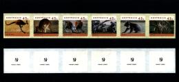 AUSTRALIA - 1995  45c. KANGAROOS & KOALAS  P & S  STRIP PRINTSET CAMBEC  1 KOALA REPRINT  MINT NH - Nuovi