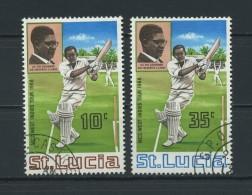 SAINT  LUCIA    1968    MCC  West  Indies  Tour    Set  Of  2   USED - St.Lucia (...-1978)