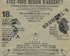 Old Envelope With Publicité 1934 : Les Lampes BELGE DELTA  - Chapeau Brummel´s - Imprimeries WOLF  ( ..... - Entiers Postaux