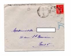 Lettre Cachet Mulhouse Haut Rhin Sans Tiret Sur Paix - Postmark Collection (Covers)