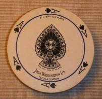 ANTIGUA BARAJA DE NAIPES REDONDA DE JOHN WADDINGTON Ltd. LEEDS & LONDON - Otras Colecciones