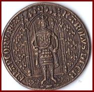 Jeton CHARLES V Franc à Pied 1365 Collection BP Trésor Des Rois De France  5 G TBE Publicité Pièce Monnaie - Royaux / De Noblesse
