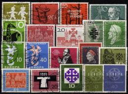 BRD 1958-1959 - MiNr: Lot Mit 19 Verschiedenen Used - Gebraucht