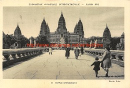 1931 Temple D'Angkor-Vat - Cambodge