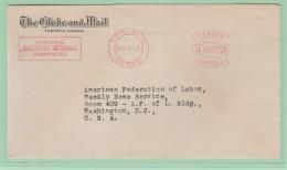 OM2   EMA   The Globe And Mail Toronto Ontario  Canada  16 FEB 57 - Postal History