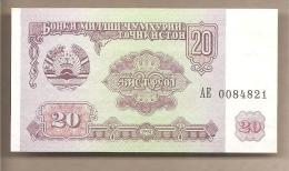 Tagikistan - Banconota Non Circolata FdS Da 20 Rubli P-4a - 1994 - Tagikistan