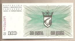 Bosnia Erzegovina - Banconota Non Circolata Da 100 Dinari - 1992 - Bosnia And Herzegovina