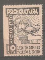 Viñeta Pro Cultura 10cts - Viñetas De La Guerra Civil