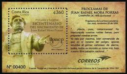 Costa Rica (2013) - Block -  / UPAEP - Juan Rafael Mora Porras - Gezamelijke Uitgaven