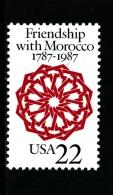 UNITED STATES/USA - 1987  FRIENSHIP WITH MOROCCO  MINT NH - Stati Uniti
