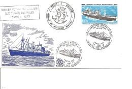 Navires Et Brise-glaces -MS Galliéni ( Document Commémoratif Des TAAF De 1973 à Voir) - Polar Ships & Icebreakers