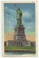 STATUA DELLA LIBERTA' - NEW YORK CITY  1935  VIAGGIATA FP - Freiheitsstatue