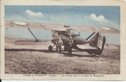 3 Cartes Postales/ Camp De SISSONNE/Aisne/ Tank En Action-Lancement Des Ballons-Un Avion/Vers 1910-1920   POIL183 - War 1914-18
