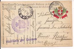R.ESERCITO ITALIANO,FRANCHIGIA,POSTA MILITARE 100-6' ARMATA-DEPOSITO AVANZATO,ZONA GUERRA, CENSURA,PER ROASIO,NOVARA - 1914-18