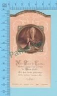 Die Cut  Gold Print - Notre Dame De Lourdes - Holy Card, Santini,  Pieuse, 3 Scans - Images Religieuses