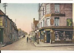 Cpa 50, Sainte Mère Eglise, Rue De Cap De Laine, Colorisée, écrite Au Dos - Autres Communes