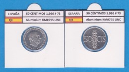 SPANJE / FRANCO   50  CENTIMOS  1.966  #73  ALUMINIO  KM#795  SC/UNC    T-DL-9246 - 50 Centiem