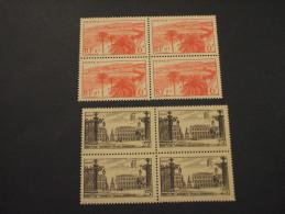 FRANCIA - 1947 VEDUTE 2 VALORI, In Quartine(blocks Of Four) - NUOVI(++) - France