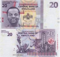 Swaziland - 20 Emalangeni 2010 UNC Lemberg-Zp - Swaziland
