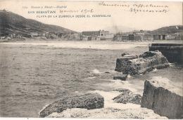 BILBAO   Playa De La Zurrioladesde El Rompeldas TTB Timbrée Dos Simple - Vizcaya (Bilbao)