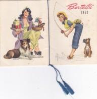 """CALENDARIETTO 1953 PROFUMATO ALLA """"FELCE """"BERTELLI PIN-UP CANI MASTINO BASSOTTO...... 5 SCANNER-2-0882-25661-60-59-58-57 - Calendriers"""