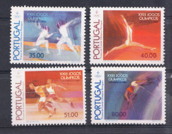 PORTUGAL 1984.AFINSA  Nº 1663/1666 JOGOS OLIMPICOS DE LOS ANGELES   SES348GRANDE - 1910-... República