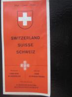 MAP SUISSE SWITZERLAND -SCHWEIZ- PLAN DE RESEAUX GUIDE LIGNES CHEMIN DE FER -FUNICULAIRE-AIRPORT-RAILWAY-BOAT-AIRCABLE - Europe