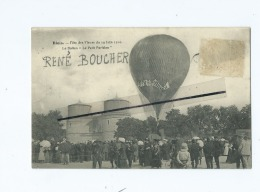"""CPA -  Blois - Fête Des Fleurs Du 19 Juin 1910 - Le Ballon """"Le Petit Parisien """" -  ( Ballon Dirigeable ) - Blois"""