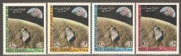 Afghanistan 1970 Mi# 1066-1069 ** MNH - Moon Landing / Space - Afghanistan