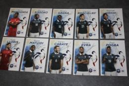 Série De 10 Cartes Joueurs De L´ėquipe De France De Football Avec Autographes (imprimés ) French Soccer Cards - Autografi