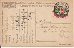 R.ESERCITO ITALIANO,FRANCHIGIA,POSTA MILITARE 106,ZONA GUERRA, PER FIRENZE - 1914-18