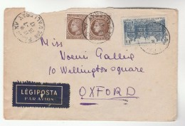 1947  FRANCE Stamps COVER To GB Airmail Label - France