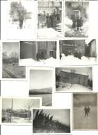 Bouches Du Rhone, Orgon, Neige En Provence 1941, Lot De 11 Photos   (bon Etat) - Luoghi