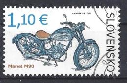 SLOVAKIA 2014 Transport - Motorcycle Manet M90 Postally Used Michel # 733 - Slovakia