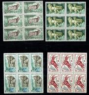 1957  Animaux: Elan, Lion, Eléphant, Koiudou  Yv 238-241 Blocs De 6 **  MNH - A.E.F. (1936-1958)