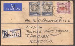 UK - Uganda - 1949 - Lettre Recommandée Pour Tangier (Morocco) - TTB - Kenya, Uganda & Tanganyika