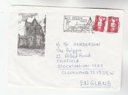 1994 FRANCE Stamp COVER Illus MONTMORILLON OCTAGON CHAPEL Illus SLOGAN Pmk SES MONUMENTS ROMANS To GB Religion Church - Churches & Cathedrals