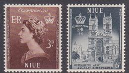 Niue SG 123-24 1953 Queen Elizabeth II Coronation MNH - Niue