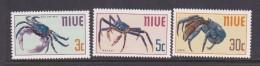 Niue SG 151-53 1970 Edible Crabs MNH - Niue