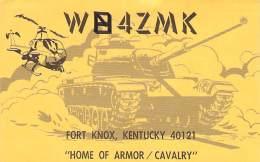 Amateur Radio QSL - WB4ZMK - Fort Knox, KY -USA- 1973 - 2 Scans - Radio Amateur