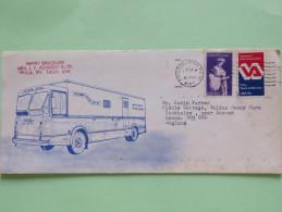 USA 1983 Cover To England - Postal Truck - Edith Wharton - Veterans Administration - Etats-Unis