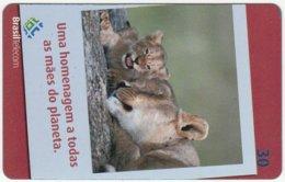 BRASIL D-548 Magnetic BrasilTelecom - Animal, Cat, Lion - Used - Brésil