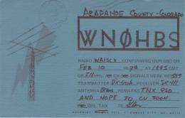 Amateur Radio QSL - WN0HBS - Englewood, CO -USA- 1974 - 2 Scans - Radio-amateur
