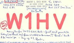 Amateur Radio QSL - W1HV - New Haven, CT -USA- 1974 - Radio Amateur